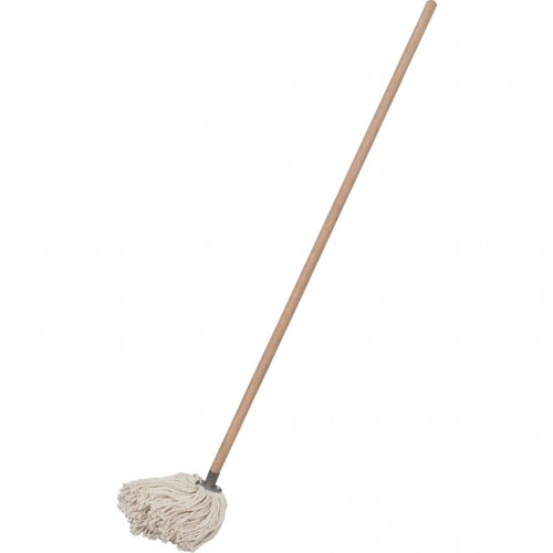Wool Mop No. 12 with Wooden Handle