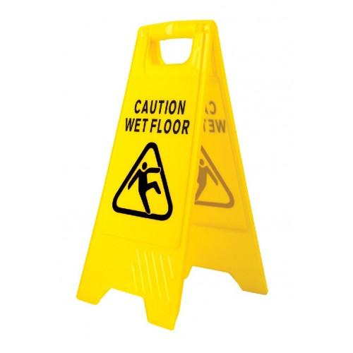 Wet Floor Warning Sign   Yellow